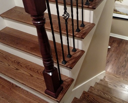 Oak Staircase With White Risers Pl43 Roccommunity